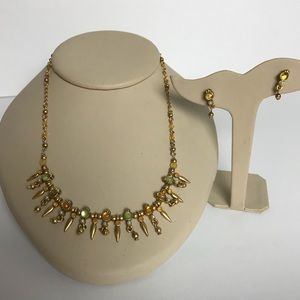 Jewelry - Jeweled Necklace & earring set.